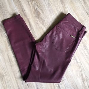 WH BM Mid-Rise Coated Skinny Ankle Jean Size 4S